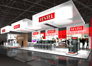 Gix Vestel exhibition design standdesign messebau