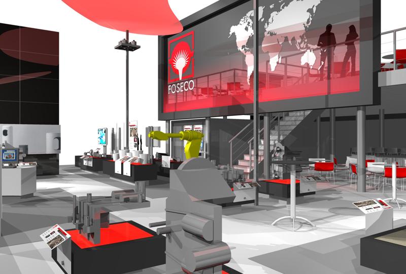Gix Foseco exhibition design standdesign messebau