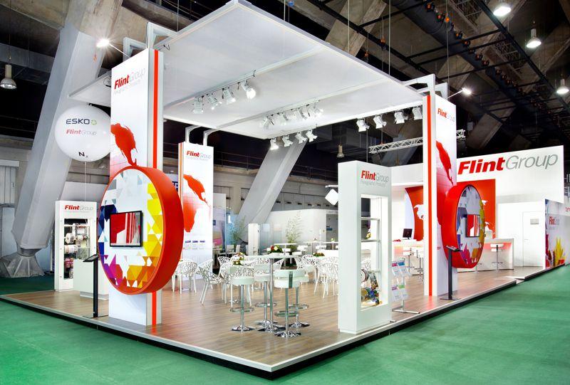 Gix Flint Group exhibition design standdesign messebau