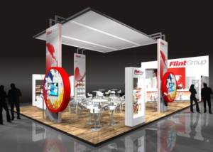 Gix Flint Group exhibition design standdesign messebau