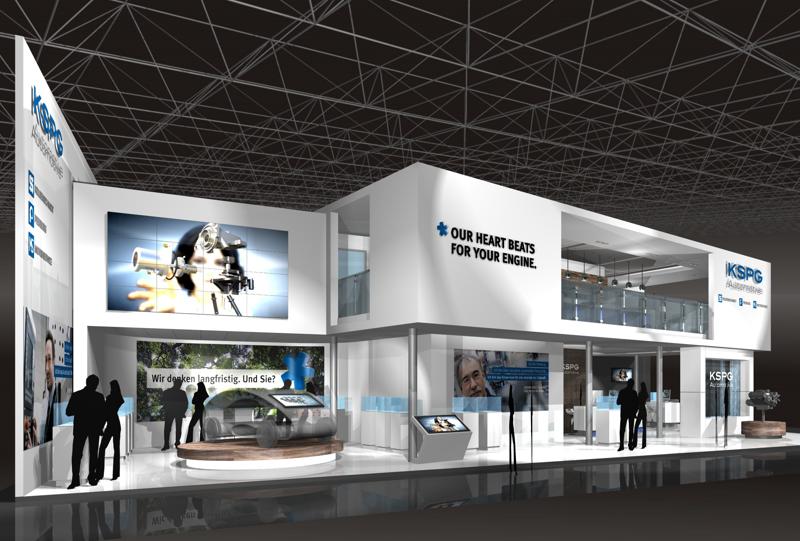 Gix KSPG automotive design exhibition standdesign messebau