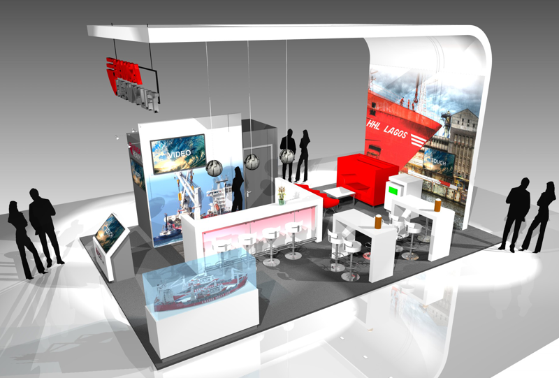 Gix Hansa Heavy Lift exhibition design standdesign messebau