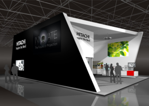 Gix Hitachi exhibiton stand design messebau