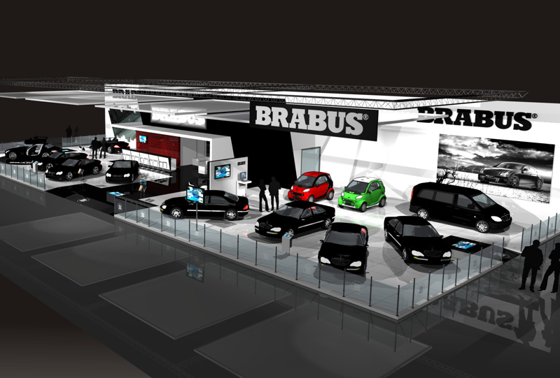 Gix Brabus design exhibition standdesign messebau