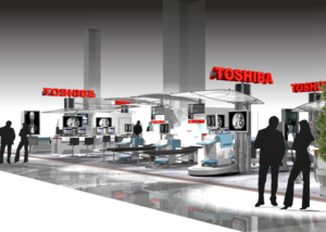 Gix Toshiba design exhibition standdesign messebau