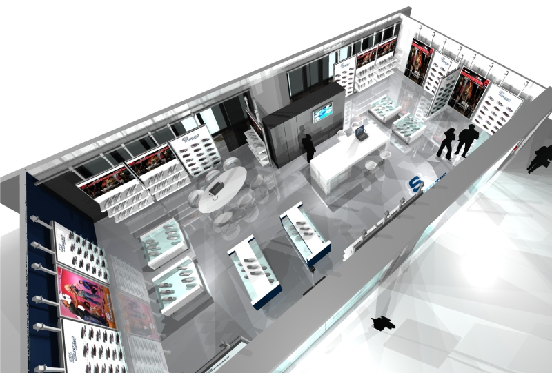 Gix Skechers interior design store